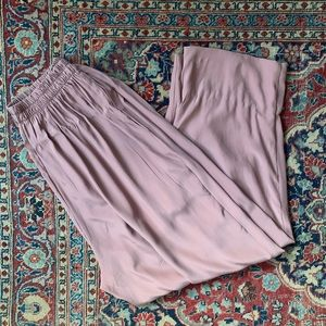 Vintage mauve silk trousers
